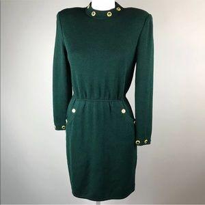 St. John Collection Sheath Dress Santana knit L/S